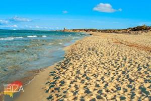 Es Cavallet beach, in Ibiza