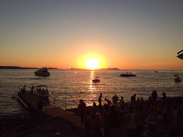 Sunset viewed from Cafe Del Mar