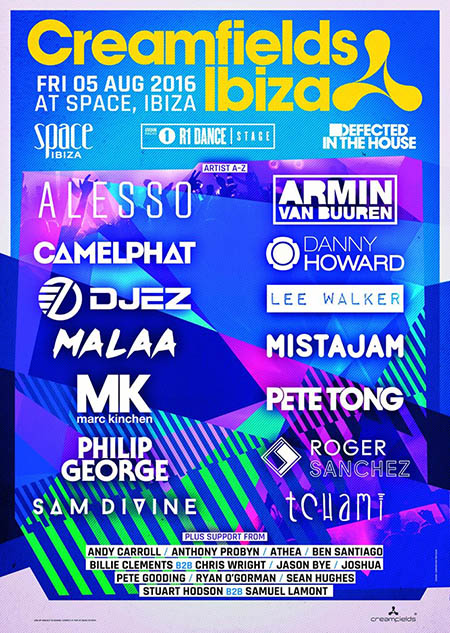 Creamfields Ibiza line up 2016