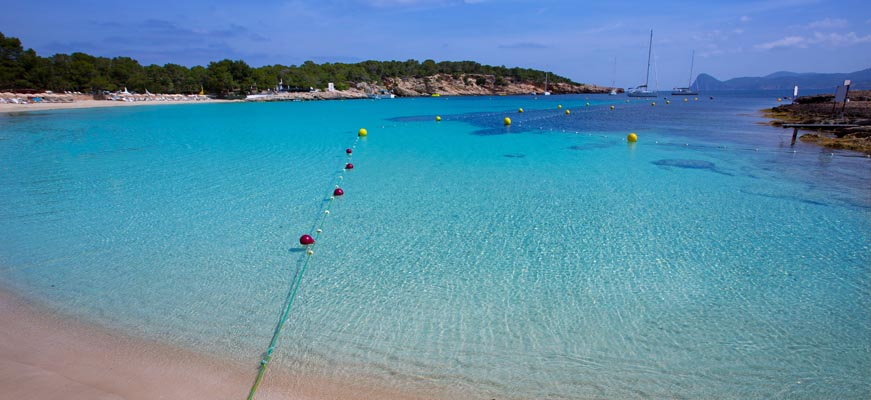 Cala Bassa beach loooking at the sea