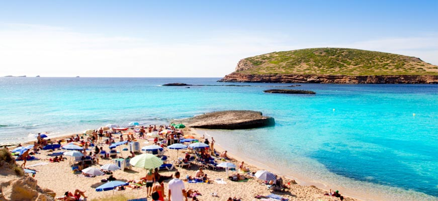 Cala Contact Beach in Ibiza