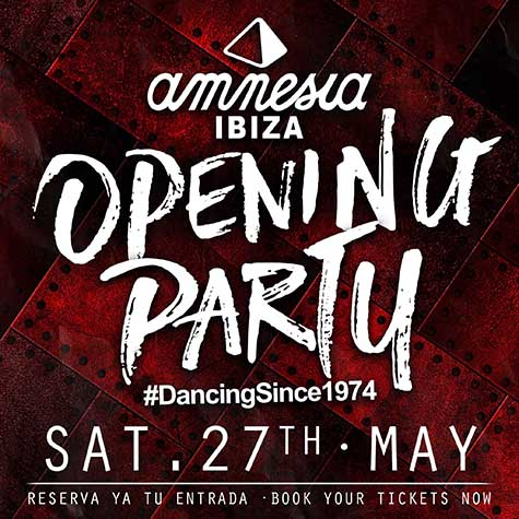 Opening Party flyer for Amnesia Ibiza 2017
