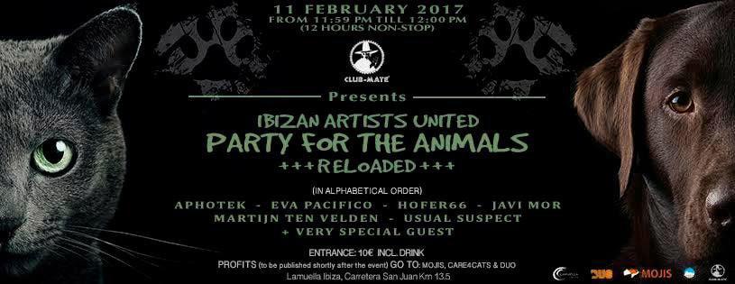 Party For Animals Saturday at Lamuella Ibiza