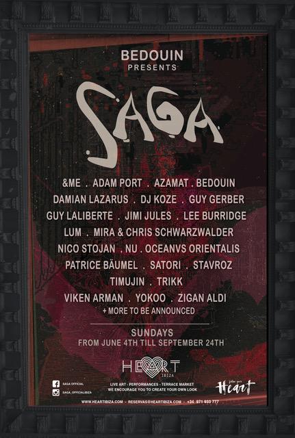 Bedouin bring Saga to Heart Ibiza full lineup