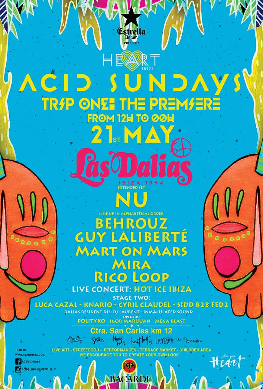 ACID SUNDAYS ANNOUNCES THE POSTER OF ITS PRE-OPENING PARTY