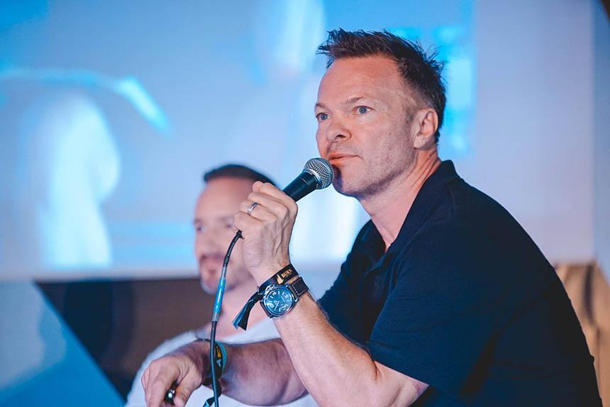 Pete Tong talking at the IMS Ibiza 2017