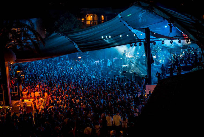 Pete Tong and the 65 piece London based Heritage Orchestra at Destino Ibiza