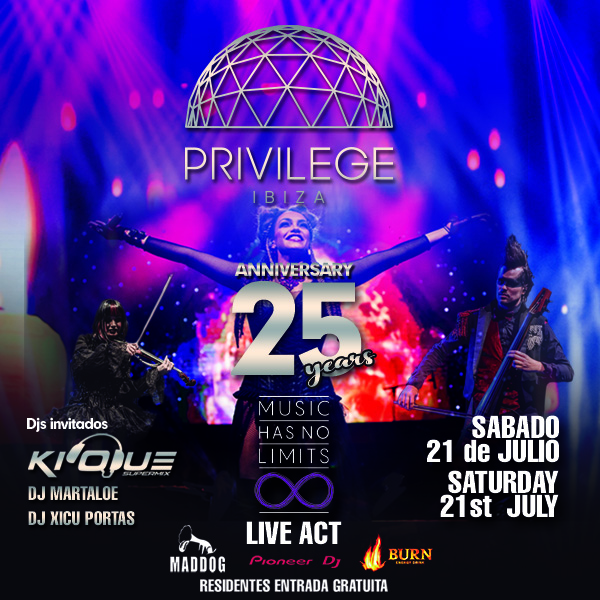 25 YEARS of PRIVILEGE IBIZA