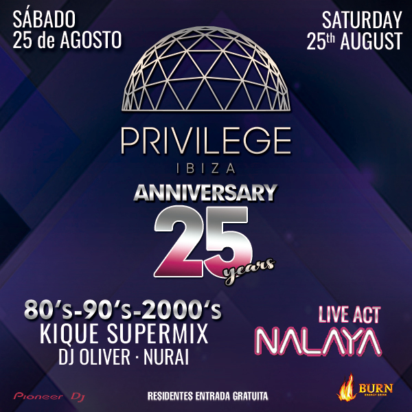 Privilege´s 25th Anniversary Line Up