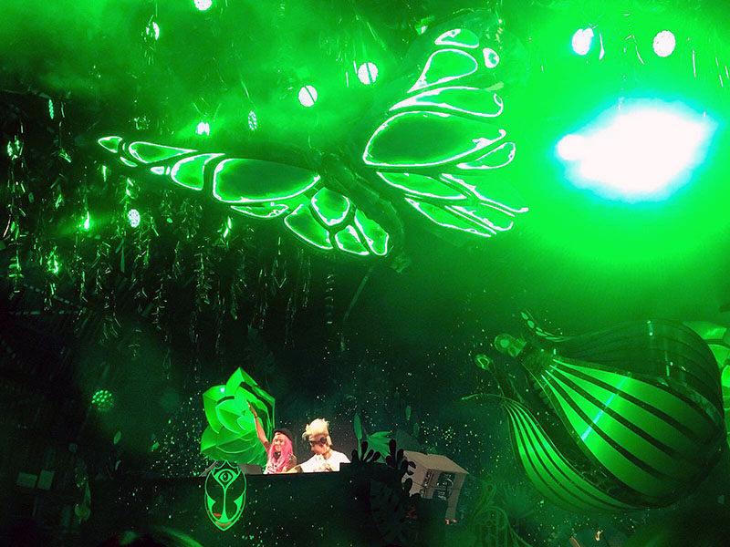 Nervo smashing Garden of Madness at Ushuaia Ibiza