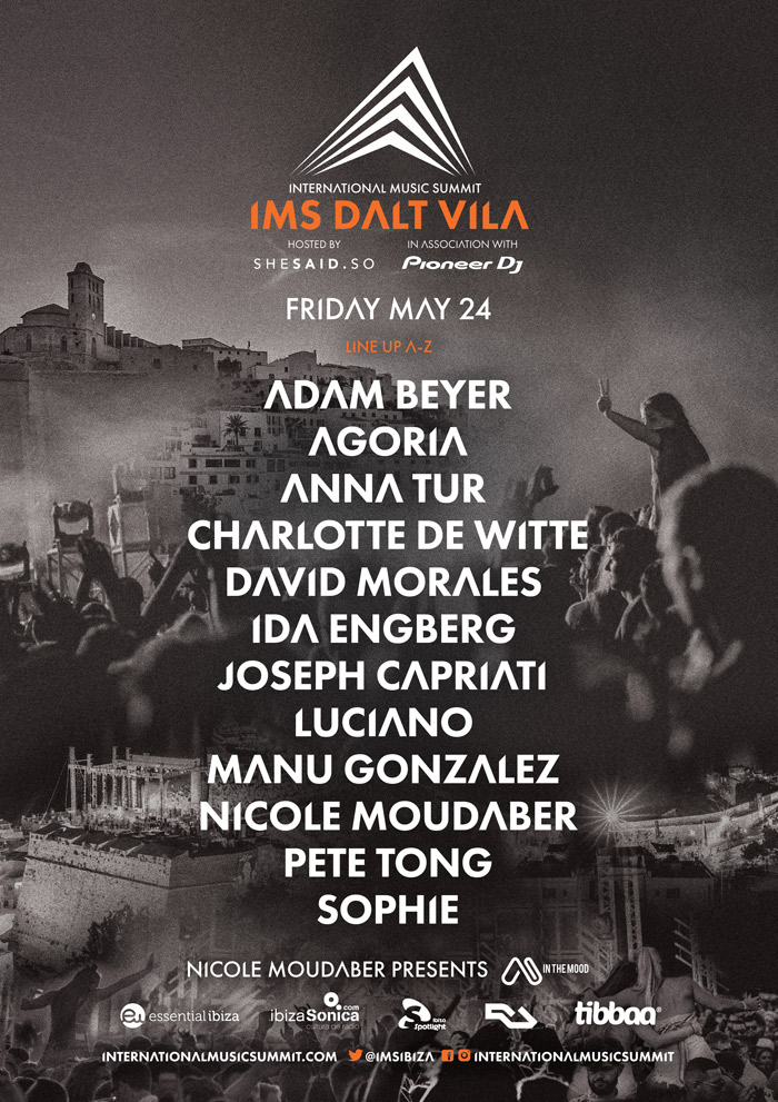 International Music Summit Announce an amazing Dalt Vila 2019 Line up