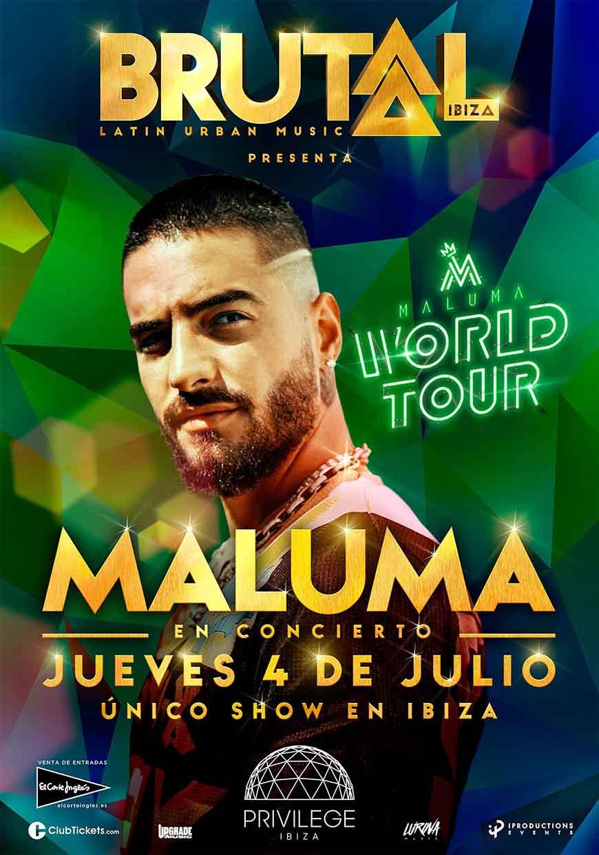Maluma Concert at Privilege Ibiza