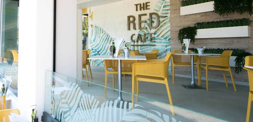 "The Red Cafe"">"