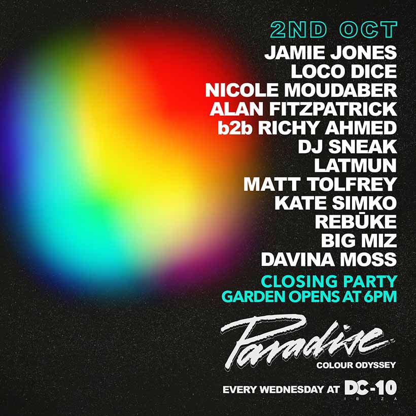 2019 Paradise Ibiza closing party